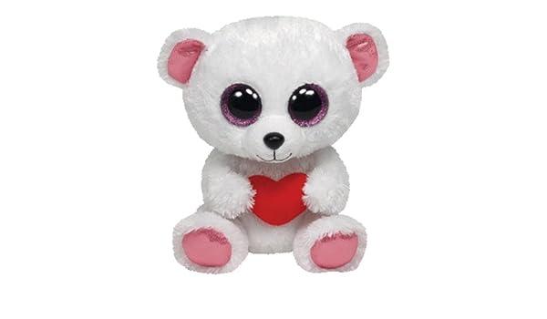 Ty ty36103 - Peluche - Beanie Boo s San Valentín - Sweetly de oso: Amazon.es: Juguetes y juegos