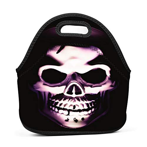 Halloween Dread Skeleton Universal Neoprene Sleeve Lunch Bag Insulated Warm/Cold Lunchbox Cooler Pouch Tote ()