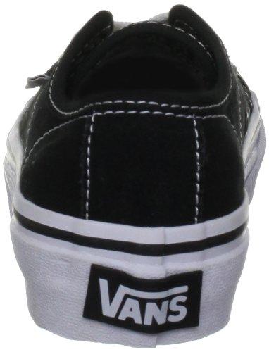 Vans - Zapatos de punta redonda de tela para niño Negro (Noir)