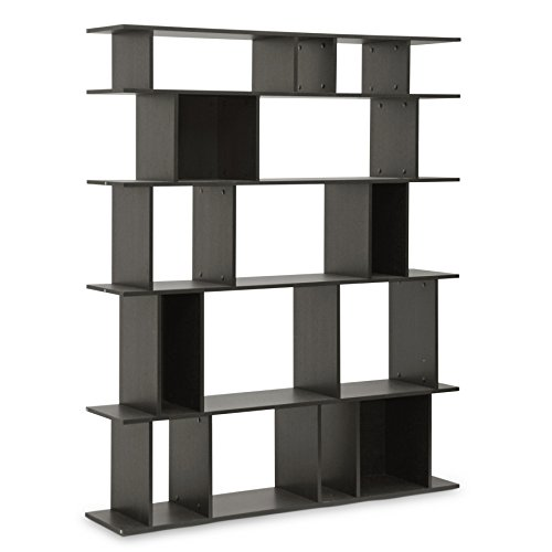 Baxton Studio Tilson Modern Bookshelf, Dark Brown
