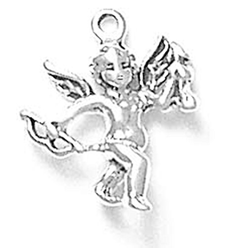 - 925 Sterling Silver Cupid Cherub Angel Charm For Bracelet/Necklace