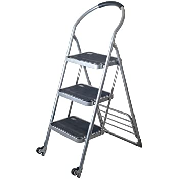 Stalwart Step Ladder Dolly Folding Cart Silver Amazon Com
