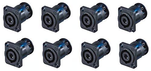 - 8 New Neutrik SpeakOn NL4MP-ST 4-Pin Locking Speaker Connector w/Screw Terminals