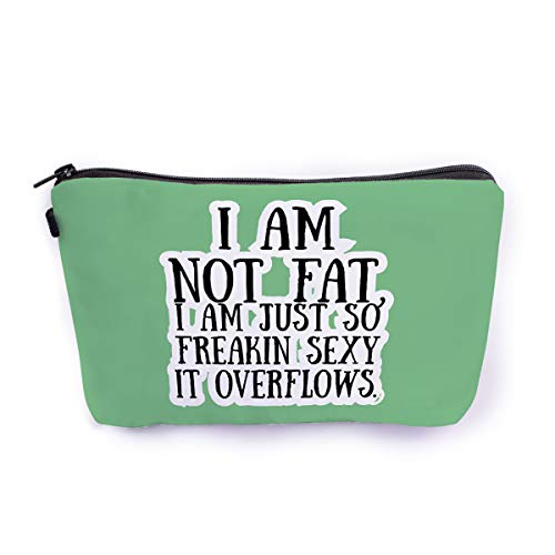Ferosh Green Quirky Printed Canvas Zipper Makeup Pouch/Travel Pouch/Cosmetic Bag/Vanity Bag (9 * 6 Inches…