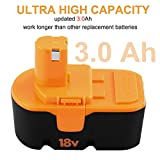 Fhybat for Ryobi 18v Battery Replacement ONE+ P100