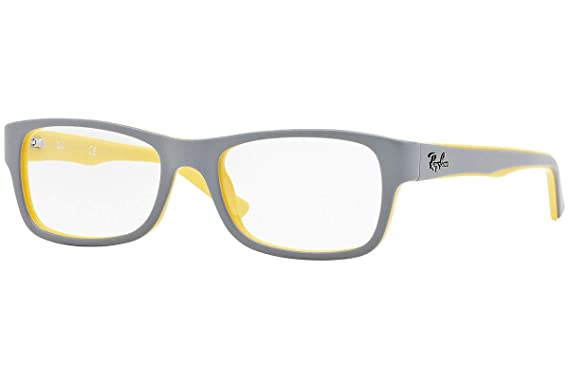 fea24aa4344 Ray Ban RX5268 Eyeglasses 50-17-135 Top Grey On Yellow 5375 RB5268 ...