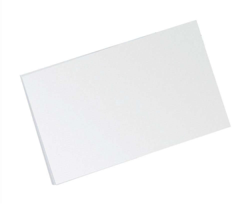 OfficeForce Large 8 x 5 White Lined Record Cards 20x13cm 100 x when two or more items ordered With FREE OfficeForce Jotter Pad