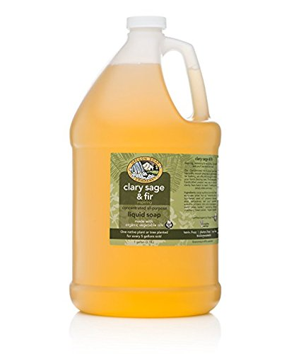 (Oregon Soap Company - Liquid Castile Soap, Certified Organic and Natural Ingredients, Concentrated Multipurpose Soap (1 Gallon (128 oz), Clary Sage & Fir))
