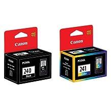 Canon PG-240 & CL-241 (PG240 CL241) Genuine Ink Cartridge OEM Original Combo Set