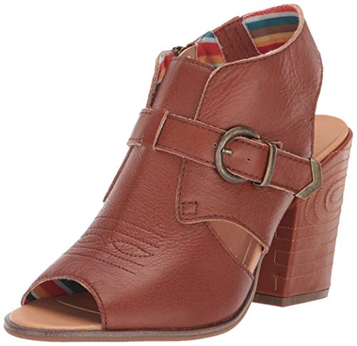 "Dingo Fashion Shoes Women Stirrup Round Toe 3"" Shaft 10 M Cognac DI103"