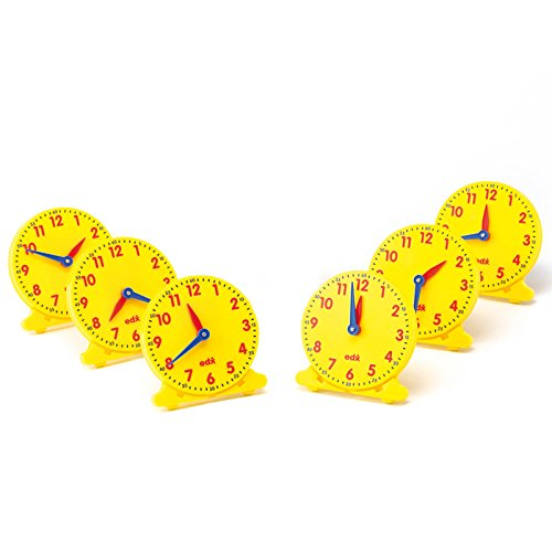 Didax Educational Resources 211550 12 Hour Student Clock (Set of 6)