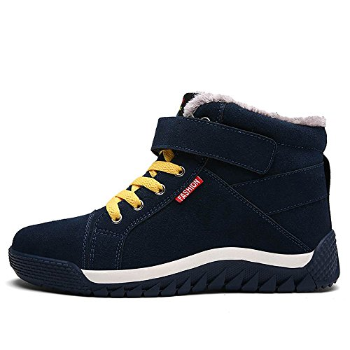 JACKSHIBO Men's Winter Warm Sneakers Fur Lining Outdoor Shoes Green SN4KxFuZAA