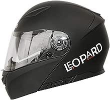 Leopard LEO-888 Doble Visera Casco Moto Modular ECE 22-05 Homologado Negro Mate XXL (63-64cm) para Motocicleta Bicicleta Scooter Cascos de Moto ...