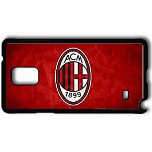 Personalized Samsung Note 4 Cell phone Case/Cover Skin AC Milan Logo Football Black