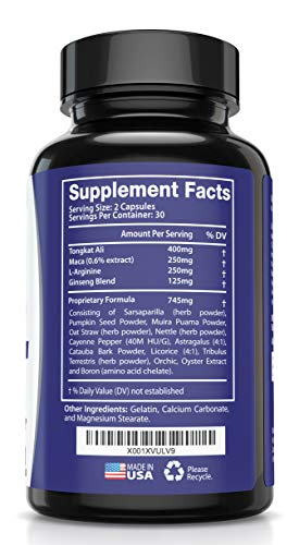 Best Fast-Acting Male Enhancing Pills - #1 Testosterone Booster for Men Increase Size, Drive, Stamina & Endurance - L Arginine, Tongkat, Maca, Ginseng Supplement - Boost Energy, Muscle & Performance by HMC (Image #5)