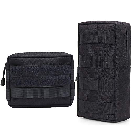 Hoanan 2 Pack Molle Pouch Tactical EDC Pouch Admin Organizer Gadget Gear  Pouch for Military Backpack 5bedcbab57a26