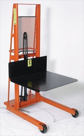 Wesco-Industrial-Products-260050-Economy-Large-Platform-Hydraulic-Stacker-1000-Pound-Capacity-60-Lift-Height-30-Length-x-32-Width
