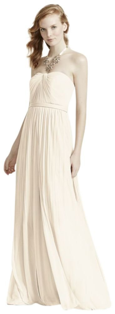 Versa Convertible Mesh Bridesmaid Dress Style F15782, Ivory, 18