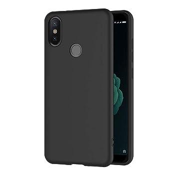 AICEK, Funda Xiaomi MI A2 compatible conXiaomi MI 6X,Negro Silicona Fundas para Xiaomi MI A2 Carcasa Xiaomi A2 Negro Silicona Funda Case (5,99 ...