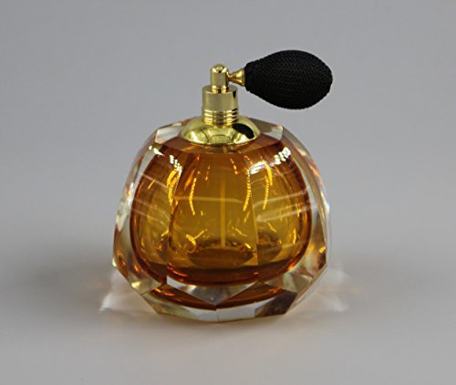 Ballerina Old Fashion Style Perfume Bottle with Black Mesh Atomizer Hand Blown Art Glass