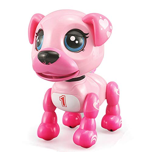 SoundOriginal Electronic Intelligent Pocket Pet Dog Interactive Puppy - Robot Dog Popular Toys Smart Pet Toys Kids Boy and Girl Gifts Girls Toys for Age 3 4 5 6 7 8 9 10 Year Old (Pink)