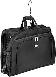 AmazonBasics Premium Tri-Fold Travel Hanging Garment Bag - 22.5 Inch, Black