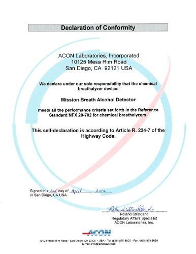 European /& UK Pro breathalyzer 0.02/% BAC 3 test pack chemical breathalysers