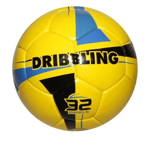 Dribbling、 – フットサルインドアサッカーボール – サイズ4 – イエロー B00HWWM8AO