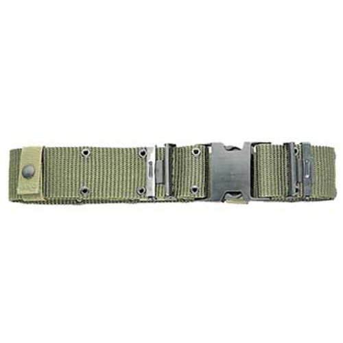 Military Outdoor Clothing Previously Issued U.S. G.I. Medium Olive Drab Military Surplus Pistol Belt with Black Quick-Release Buckle