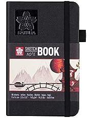 Safura schetsboek, 90 x 140 mm, zwart/wit/crème, zwart