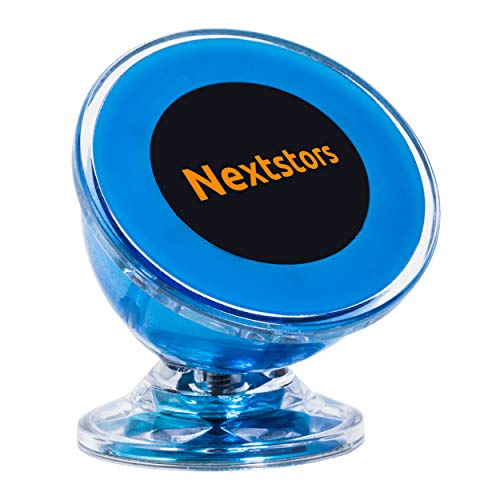 Nextstors Phone Holder for Car Magnetic - Universal Magnetic Phone Car Mount - 360 Degree Rotation from Dashboard - Cell Phone Holder for Car Compatible with All Smartphones (Blue)