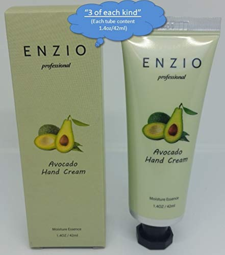 """ENZIO Professional Grade Shea Butter Based Hand Cream Lotion Gift Set """"Party Pack"""" (7 variety x 3 = 21 tubes total) (Free of Parabens, Benzophenone, Talc, and Color Additives) by ENZIO (Image #2)"""