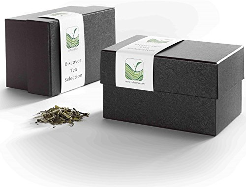 Tea Gift Box Discover - Luxury Loose Leaf Tea Variety Pack - Specialty Teas Gift Basket - Luxury Assortment Tea Sampler
