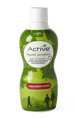 Medline Active Liquid Protein Nutritional Supplement, 30 fl oz.- 4 Count Active Protein