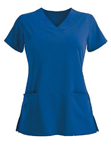 Jockey Women's Scrubs V-Neck Crossover Scrub Top, Royal Blue, S