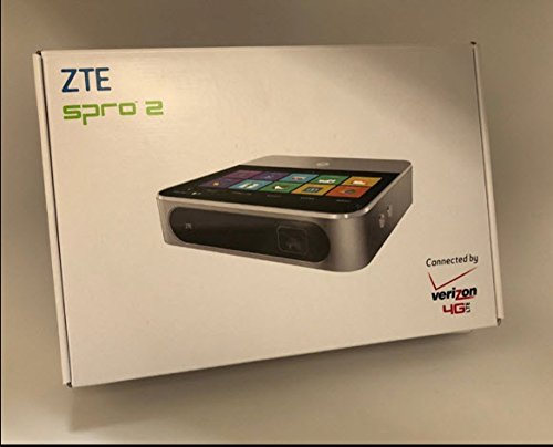 ZTE SPRO2 4G LTE Hotspot Verizon Wireless (USA Carrier) DLP Touchscreen Smart Projector WiFi Bluetooth Mini 5.0 inch HD 1280*720 Pixels Capacitive Android 4.4 OS 2.1GHz Quad Core RAM 2GB+ROM 16GB