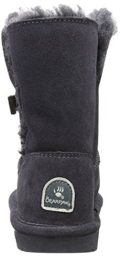 Bearpaw Abigail Charcoal Unisex Kids Shearling Boot Size 1M by BEARPAW (Image #2)