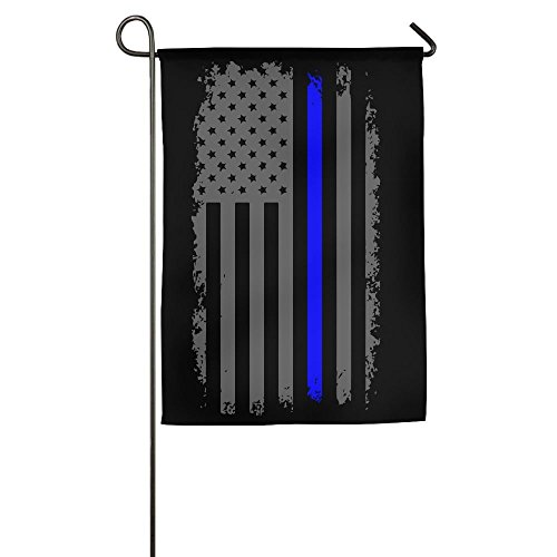 Lovefled Vertical Thin Blue Line American Flag Funny Home