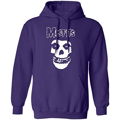 Misfits Band Shirt, Glenn Danzig, Michale Graves Shirt, American Punk Rock Band - Hoodie (Hoodie;Purple;M)