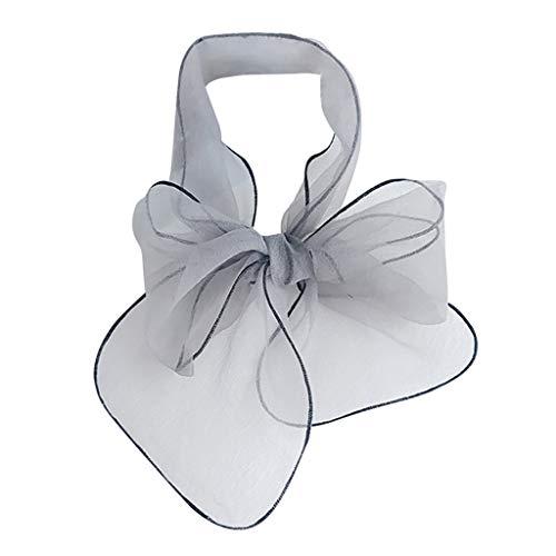 HYIRI Quick Dry Vintage Elegant Designs Silk Satin Feel Ladies Small Square Head Neck Scarf