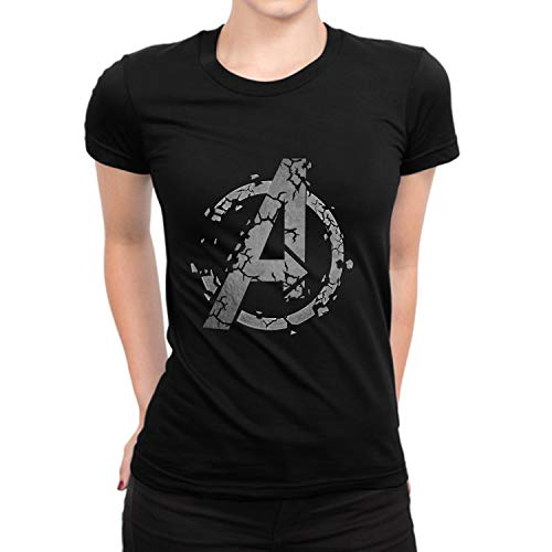 End Game Distressed Graphic Tee Shirt - Adult Black Vintage Womens Tshirt (XS) -