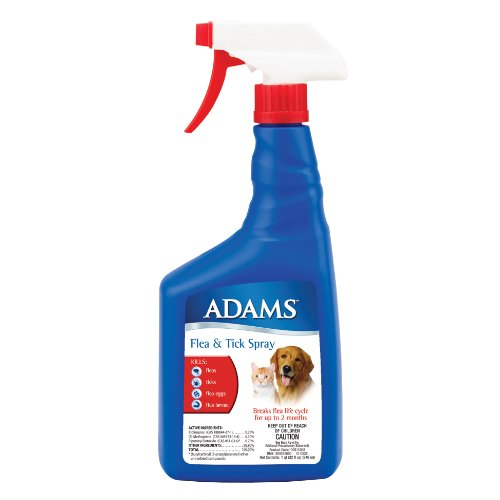 Adams Flea and Tick Spray for Cats and Dogs, 32 Oz Adams Flea Tick Spray