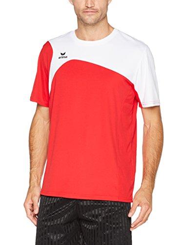 1900 Homme shirt Erima T blanc Club 2 0 Rouge qnB5a