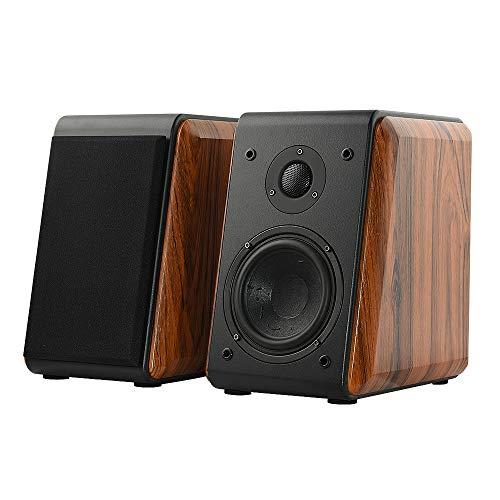 Fosi Audio DK560 Bookshelf Speakers (Pair) Hi-Fi Passive Stereo Wooden Speakers 5-Inch 2.0 for TV, Desktop, Shelf Home Theater Surround System (Best Cheap Passive Speakers)