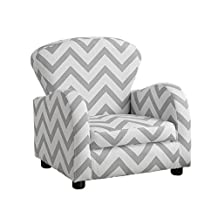 Monarch Specialties I 8143 Juvenile Chair, Grey/White