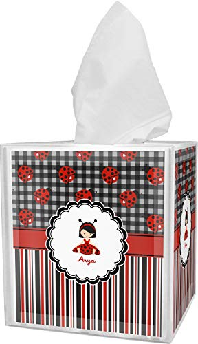 RNK Shops Ladybugs & Stripes Tissue Box Cover (Personalized)