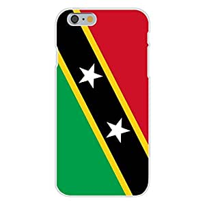 Apple iphone 6 plusd 5.5 Custom Case White Plastic Snap On - Saint Kitts & Nevis - World Country National Flags