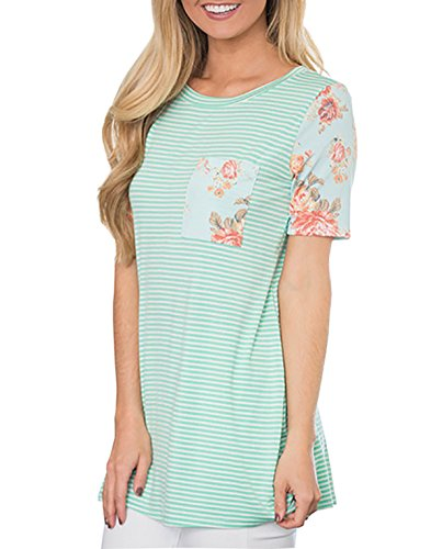 MEROKEETY Womens Floral Prints Stripes product image