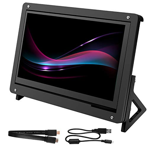 for Raspberry Pi Screen, kuman 7 Inch Capacitive Touch LCD Display HDMI Input 800x480 with Case Stand