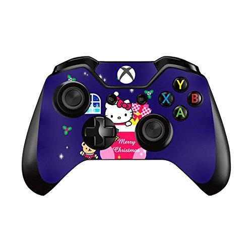 ModFreakz™ Pair of Vinyl Controller Skins - White Cartoon Kitty for Xbox One